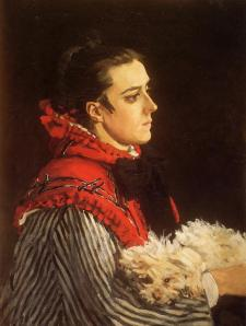 """Camile with a small dog"" 1866 (a sus 26 años)"