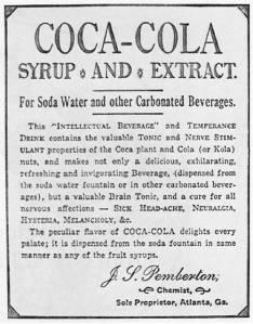 Primer anuncio de Coca-Cola