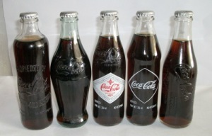 Antiguas botellas de Coca-Cola